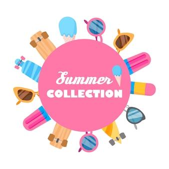 Sommerkollektion von objekten.