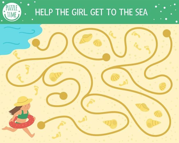 Sommerlabyrinth für kinder