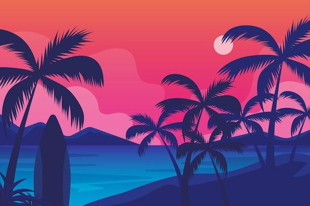Sommerlandschaftshintergrund für zoom