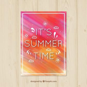 Sommerliche aquarellkarte
