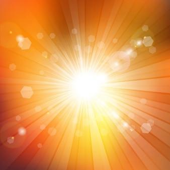 Sommerliche hintergrund mit starburst-design