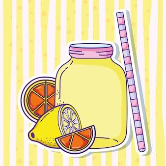 Sommerlimonadensaftvektor-illustrationsgrafikdesign