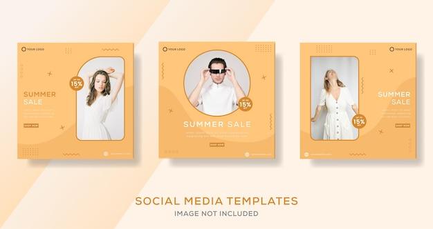 Sommermodeverkauf für social-media-bannerpost