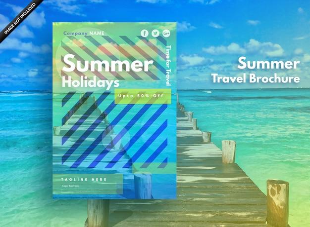 Sommerplakat für feiertage, party und verkauf