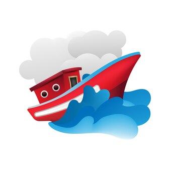 Sommerreise auf yacht illustration