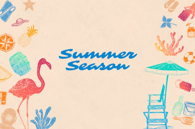 Sommersaison hintergrund