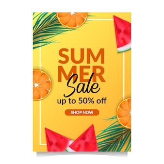 Sommerschlussverkauf angebot banner tropische früchte