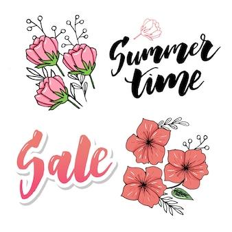 Sommerschlussverkauf banner. handgezeichnete schriftzug. kalligraphisches element für ihr design.