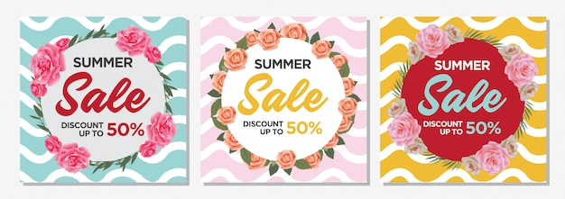 Sommerschlussverkauf banner vorlage