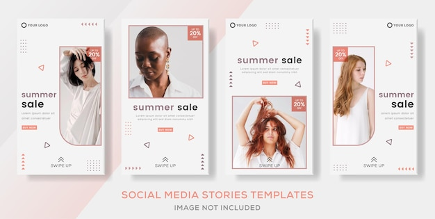Sommerschlussverkauf-banner-vorlagen-geschichten für social media