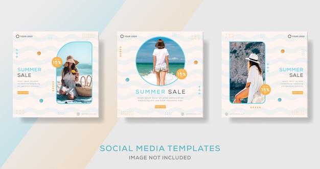 Sommerschlussverkauf-bannervorlage für social-media-social-post