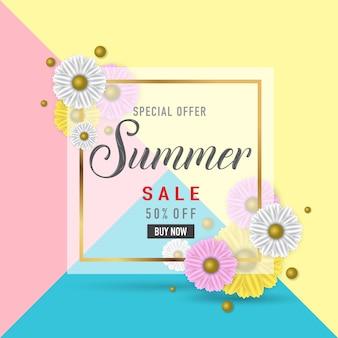 Sommerschlussverkauf-fahnenplakat, abstrakter hintergrund, vektor eps10.