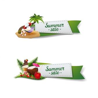 Sommerschlussverkauf-fahnenset