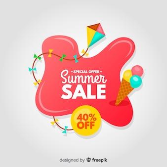 Sommerschlussverkauf flüssigkeit banner