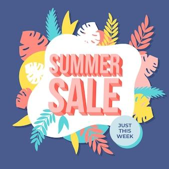 Sommerschlussverkauf in flachem design