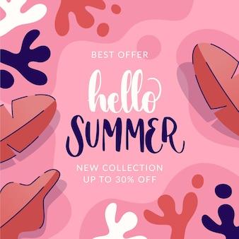 Sommerschlussverkauf mit blättern