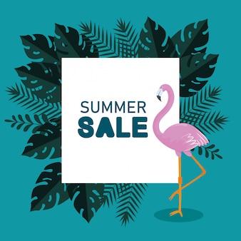 Sommerschlussverkauf mit flämischen und exotischen blättern
