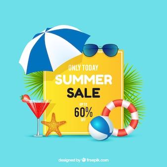 Sommerschlussverkauf mit realistischer art