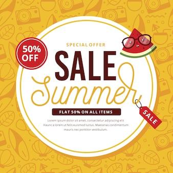 Sommerschlussverkauf mit wassermelone
