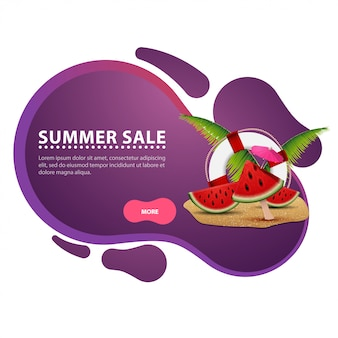 Sommerschlussverkauf, moderne kreative rabattweb-fahne für ihre website