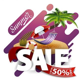 Sommerschlussverkauf, moderne rabattfahne für ihr geschäft