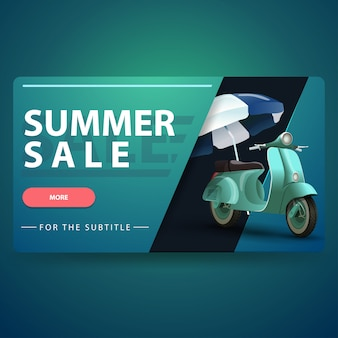 Sommerschlussverkauf, moderne volumetrische 3d-web-banner