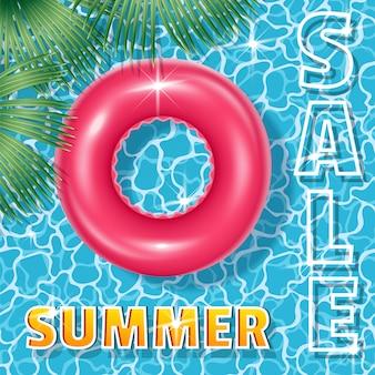 Sommerschlussverkauf quadrat banner