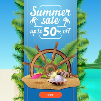 Sommerschlussverkauf, quadratische rabattnetz-fahnenschablone für ihr geschäft
