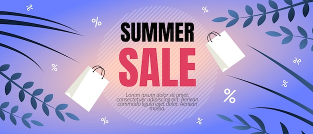 Sommerschlussverkauf rabatt flyer