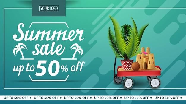 Sommerschlussverkauf, rabatt horizontale banner für online-shop