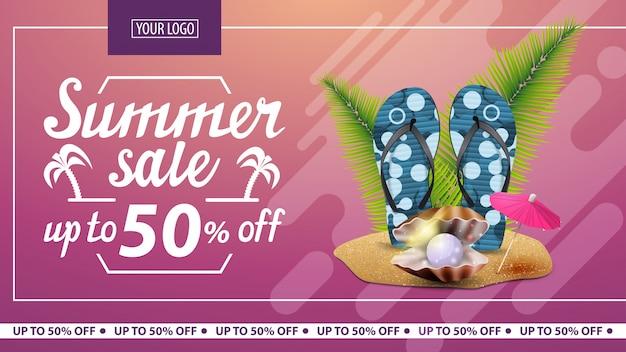 Sommerschlussverkauf, rabatt horizontale banner