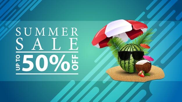Sommerschlussverkauf, rabatt-web-banner für ihre website in einem modernen stil
