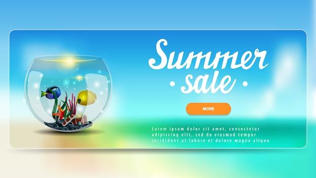 Sommerschlussverkauf, rabattfahne mit knopf