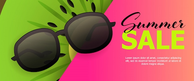 Sommerschlussverkauf rosa banner