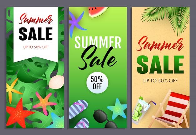 Sommerschlussverkauf-schriftzüge, chaiselongue und seesterne