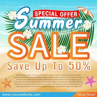 Sommerschlussverkauf sonderangebot deal promotion banner vorlage