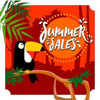 Sommerschlussverkauf-tukanwald-hintergrunddesign