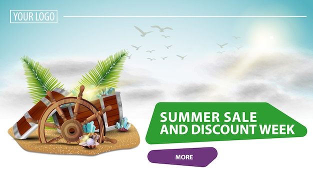 Sommerschlussverkauf und rabattwoche zielseite