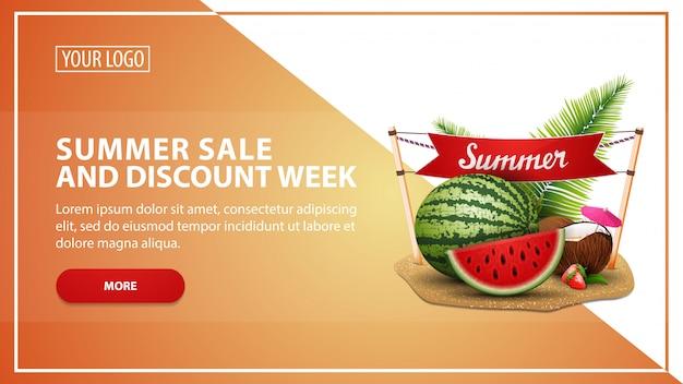 Sommerschlussverkauf und rabattwoche