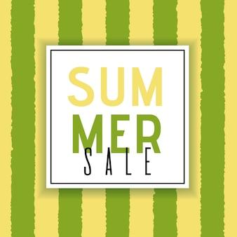 Sommerschlussverkauf werbeplakat mit einfachen, flachen design