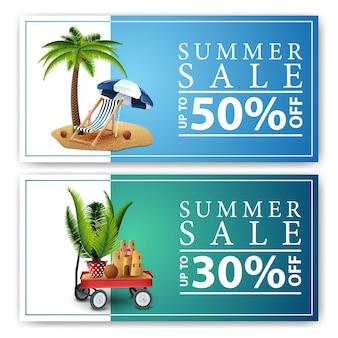 Sommerschlussverkauf, zwei rabatt-web-banner