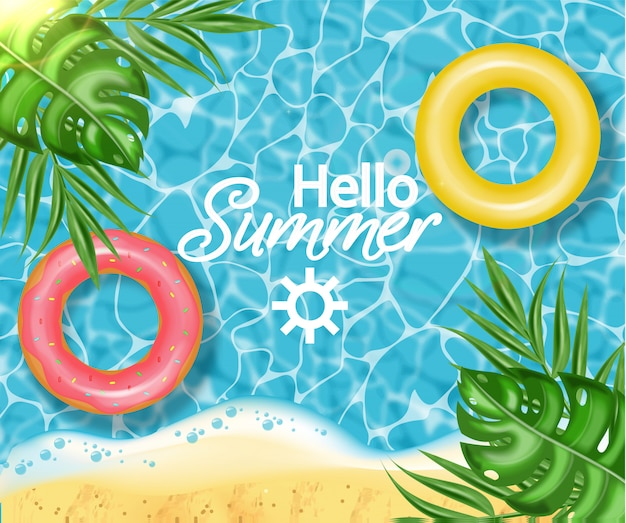 Sommerschwimmbad und rettungsring