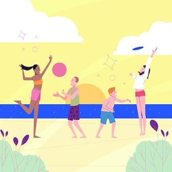 Sommersport-illustrationskonzept