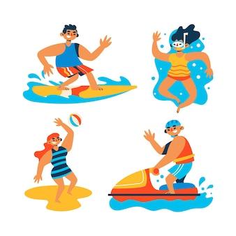 Sommersportkonzept