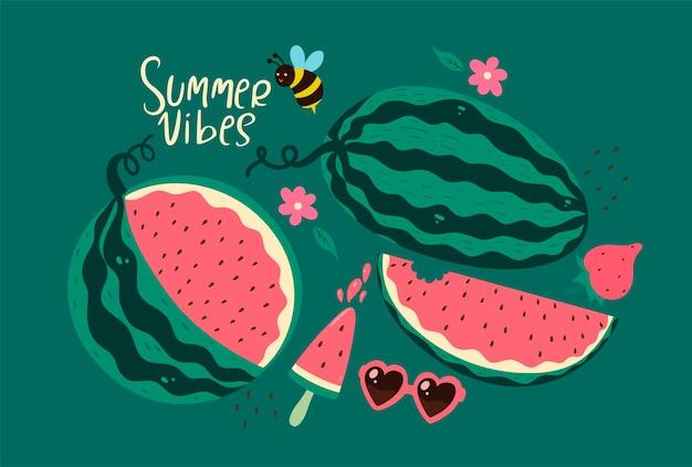 Sommerstimmung mit wassermelonen