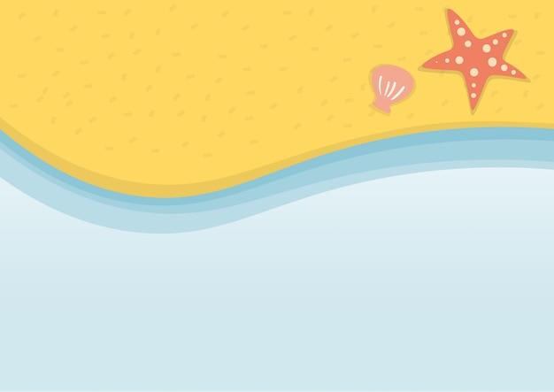 Sommerstrandferien-illustrationsvektor