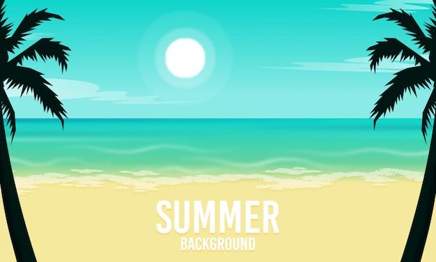Sommerstrandhintergrund