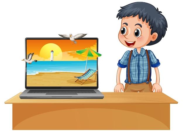 Sommerszene auf computer-desktop