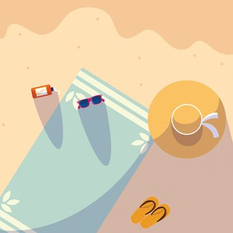 Sommertuch am strand