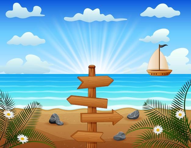 Sommerurlaub am tropischen strand